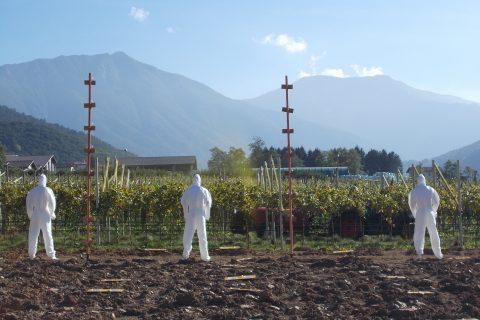 Drift test in vineyard