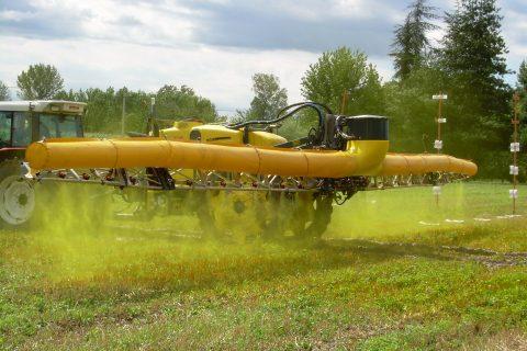 Drift test in field crops
