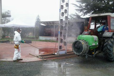Tree crops sprayer adjustment